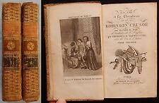 W/ LA VIE ET LES AVENTURES DE ROBINSON CRUSOÉ D.de Foë (1821) GRAVURES (2/2 T.)