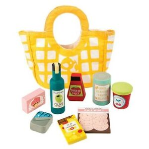 NEW Tender Leaf Toys Wooden Grocery Bag Set - Shopping Fun!