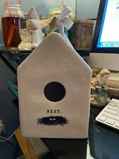Rae Dunn Artisan Collection Bird House With Nest