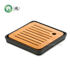 Bambù Piatto Quadrato Nero Tavolo da Tè in Ceramica Vassoio 21 * 21 cm