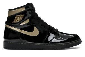 Jordan 1 Retro High Black Metallic Gold 2020 Size 11 555088-032 DS BNIB