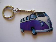 PURPLE VW CAMPER VAN KEYRING. NEW. KEY RING