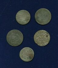GERMANY / GERMAN STATES - GROUP LOT OF (5)  SILVER COINS WITH WEAR