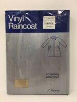 Vintage Vinyl Raincoat The Mens Shop JcPenney Large Tan Waterproof