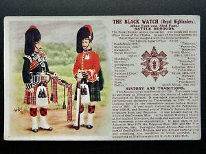 History & Tradition THE BLACK WATCH ROYAL HIGHLANDER Postcard Gale & Polden No76