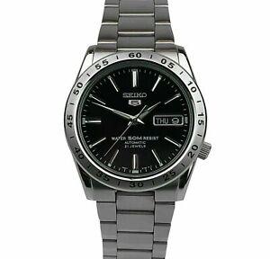 Seiko 5 Automatic Black Dial Silver Steel Men's Watch SNKE01K1 RRP £169