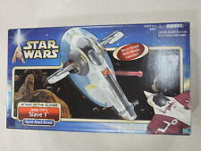 2001 Star Wars AOTC JANGO FETT's SLAVE 1 Ship Figure Assault Vehicle! Open Box