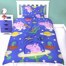 Peppa Wutz Kinderbettwäsche Garnitur Mikrofaser Peppa Pig Bettbezug Kissenbezug