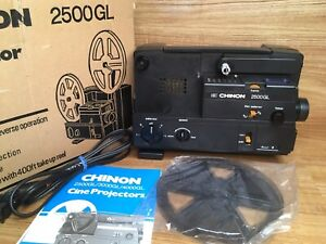 Chinon 2500GL Dual 8 Super 8 Reg 8mm Film Cine Projector JAPAN - BRAND NEW