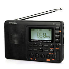 Portable  FM / AM /SW Full band Radio MP3 Player REC Recorder DC 5V 2W Hot Sale