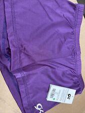 GK elite gymnastic shorts size AL Purple