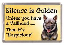 "Swedish Vallhund Dog Fridge Magnet ""Silence is Golden ........."" by Starprint"