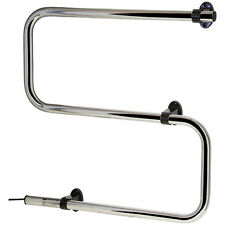 "Electric Chrome Heated Towel Rail - 50 watt ""S"" Shaped"