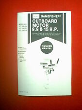 SEARS GAMEFISHER 9.9 & 15 HP OUTBOARD #S 217.586351 217.586251 217.586270 MANUAL