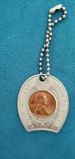 1953-D Schenley Whiskey Vintage Lucky Wheat Penny Encased Good Luck Charm