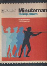 Scott Minuteman Stamp Album with stamps