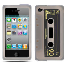Smoke Cassette Silicone Skin Case Cover for iPhone 4 / 4S