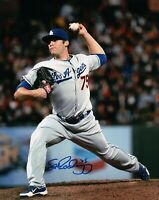 Paco Rodriguez Signed 8X10 Photo Autograph Throwing Pitch Dodgers Auto w/COA