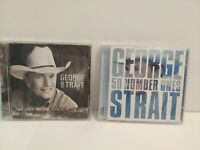 Lot of 2 George Strait Music CDs 50 Number Ones and Somewhere Down in Texas