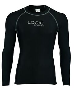 Logic Mens Full Sleeve Compression Running Armour Base Layer Top Gym Sports