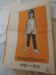 Vintage Anna Adams Pattern Childrens Girls 4 Mail Order uncut 60s