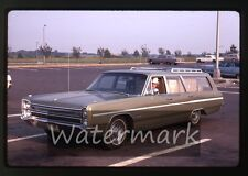 1969 kodachrome photo slide Lady in Plymouth station wagon car #2