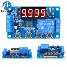 Digital 12V LED Display Timer Automation Delay Relay Programmable Module Switch