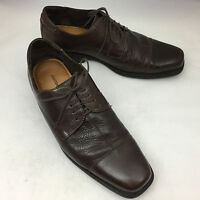 JOHNSTON & MURPHY Flex Brown Sheepskin Leather Lace Up Oxfords - Men's Size 11M