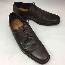 JOHNSTON & MURPHY Flex Brown Sheepskin Leather Oxfords - Men's Size 11M EUC!