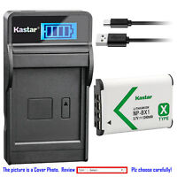 Kastar Battery LCD USB Charger for Sony NP-BX1 BC-CSXB & Sony HDR-CX440 Camera
