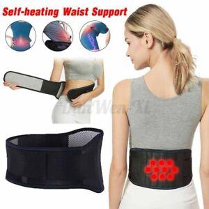 Adjustable Back Support Belt Brace Lumbar Waist Self-Heating Strap Sciatica New