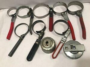 KKmoon Llave de Cadena de 8 Pulgadas Llave de Filtro de Aceite Llave Extracci/óN Ajustable Herramientas de Reparaci/ón Universal de Autom/óviles