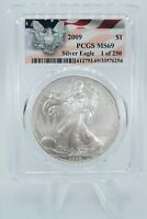2009 PCGS MS69 American Silver Eagle Bullion Dollar Business Strike 1 oz $1