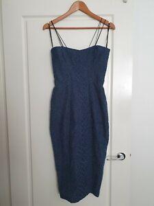 Alex Perry Denim Midi Dress Size 8