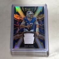 2019 Panini Select Josh Allen Silver Prizm Sparks Jersey Patch #/99 Bills