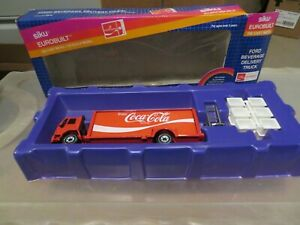 Siku Eurobuilt Ford Beverage Delivery Truck Coca-Cola Complete 1:55 Nice w Box