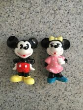 """Vintage 3"""" Disney'S Micky and Minnie Mouse 1970's Figurines"""
