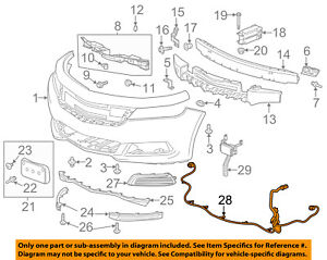 Chevrolet GM OEM 2018 Impala Front Bumper Grille Grill-Harness 84074805