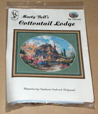 """Marty Bell """"Cottontail Lodge"""" Floral Cross Stitch Kit"""