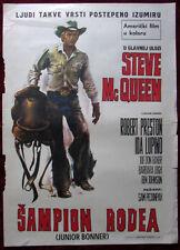 1972 Original Movie Poster Junior Bonner Sam Peckinpah Steve McQueen Western YU
