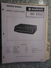 Sanyo RM 5500 service manual original repair book am fm digital clock radio