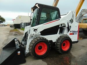 """2016 BOBCAT S590 TURBO """"2 SPEED"""" BIG 68 HP - STEREO - POWER COUPLER - ENCLOSED"""