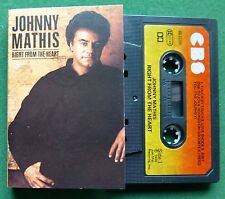 Johnny Mathis Right From The Heart inc Hooked on Goodbye + Cassette Tape TESTED