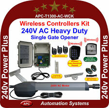 AC 240V Powered Extra Heavy Duty Single Swing Gate Opener Wireless Controllers