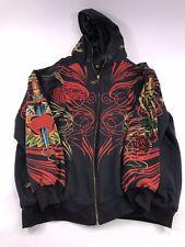 Ed Hardy Christian Audigier Mens Heartbreak Full Zip Hoodie Jacket Sz 4XL