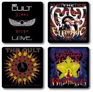 The Cult 4 Piece Coaster Set