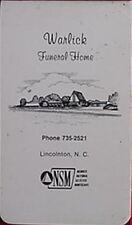 WARLICK FUNERAL HOME (LINCOLNTON, NORTH CAROLINA) NOTEPAD
