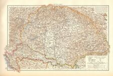 1900 ANTIQUE MAP- HUNGARY