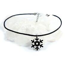 Black Snowflake Choker • Schneeflocke Winter Weihnachten Goth Gothic Witch