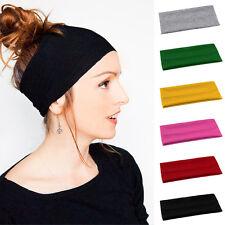 Femme Fille Serre Tête Elastique Bande Cheveux Sport Bandeau Headband Yoga